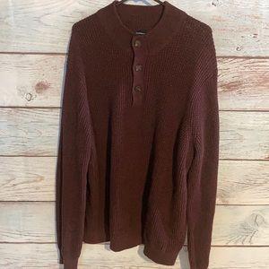 XXL Croft & Barrow burgundy knit sweater